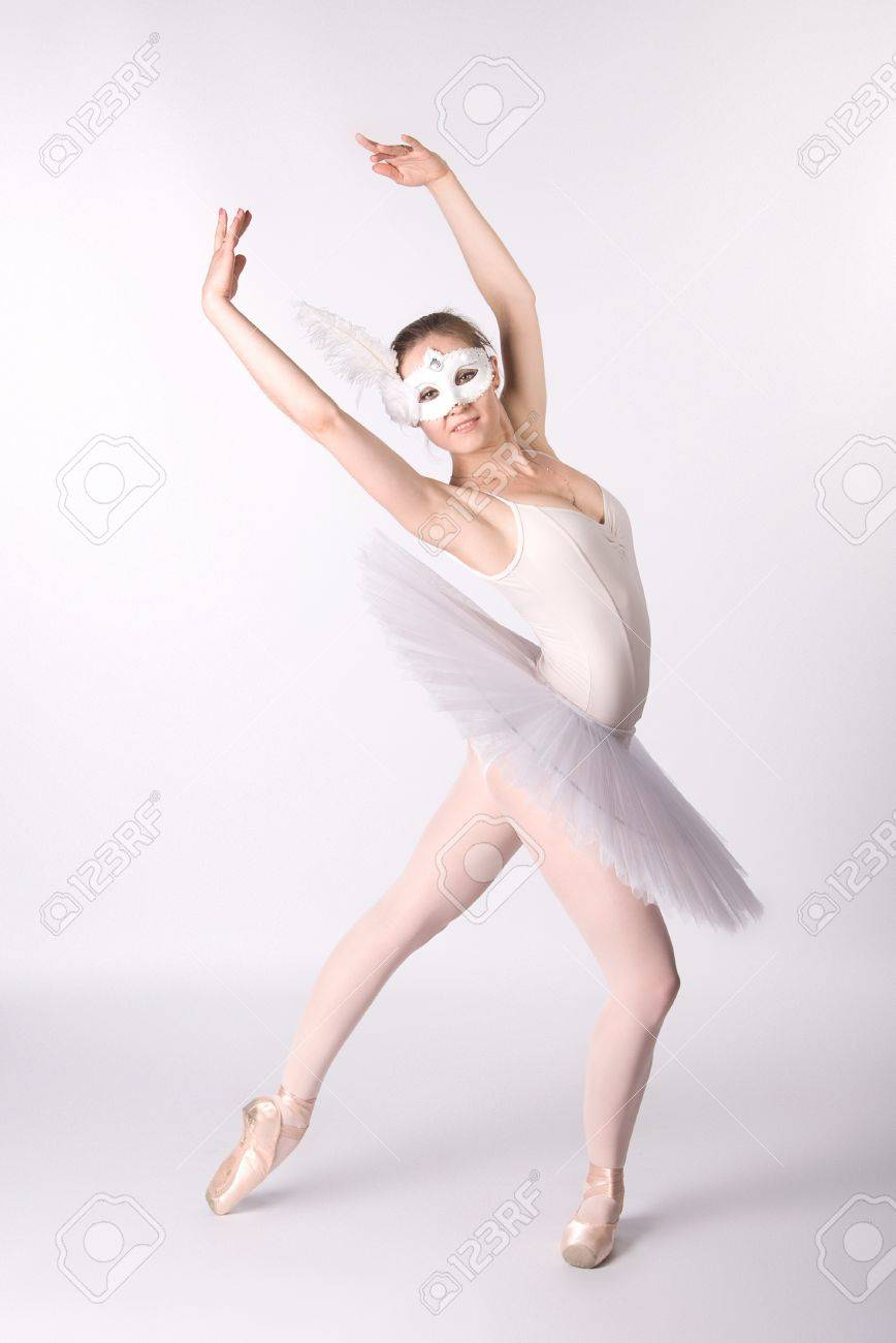 Ballerina In A White Skirt And A Bathing Suit Pointe Dance Stock Photo Picture And Royalty Free Image Image 12154290