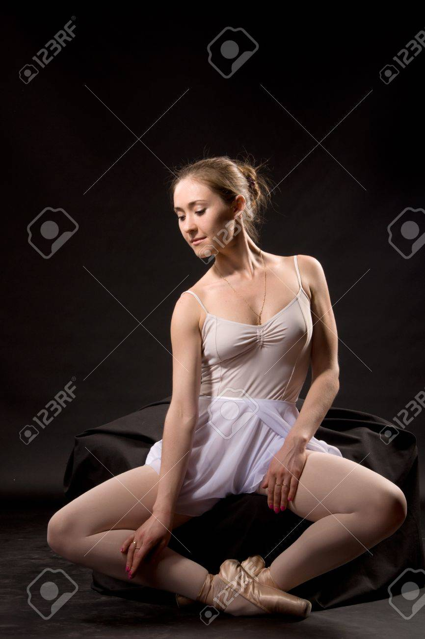 Ballerina In A White Skirt And A Bathing Suit Pointe Dance Stock Photo Picture And Royalty Free Image Image 12154292