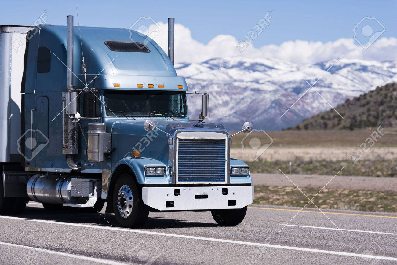 Blue Semi Truck - Data SET •