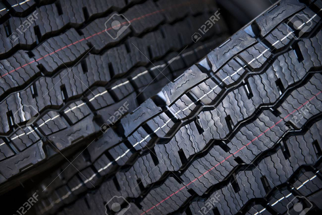 Two Great New Tires For Semi Trucks With Large Tread Which Turned To The Camera