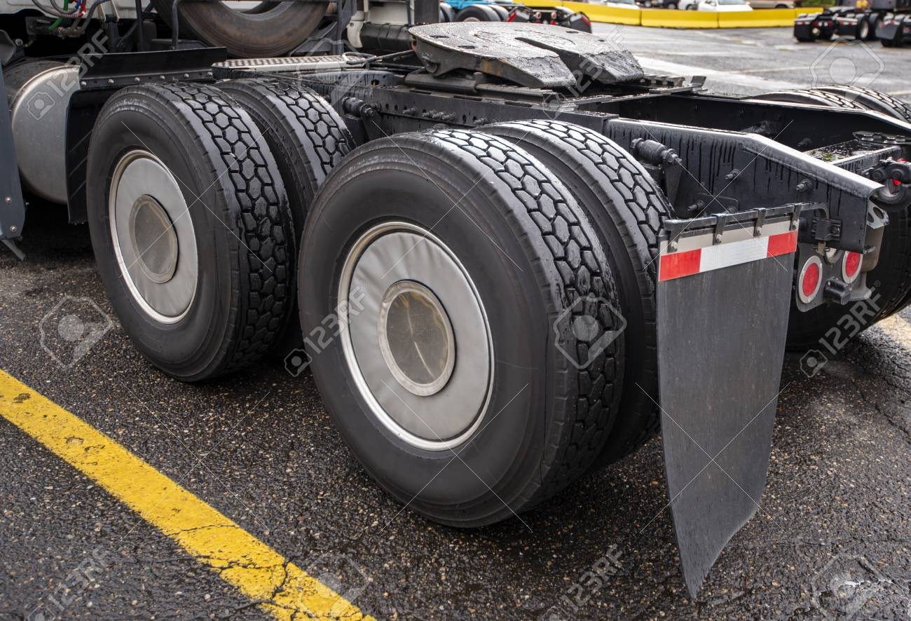 Semi Truck Mud Flaps >> Wheelbase Of Industrial Grade Professional Big Rig Freight Transportation
