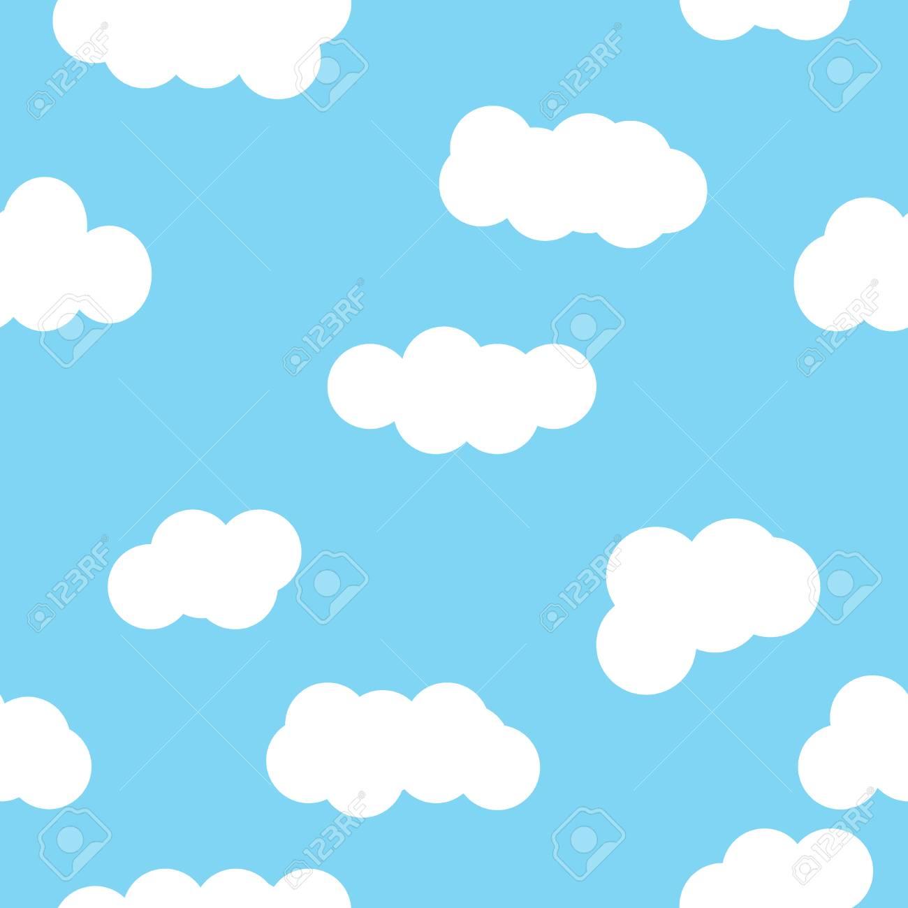 雲の壁紙模様ブルー シームレスな雲パターン 雲天気の抽象的な背景