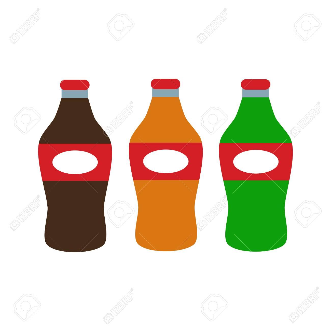 ソーダ、水とジュースやお茶のペットボトル。 ロイヤリティフリー