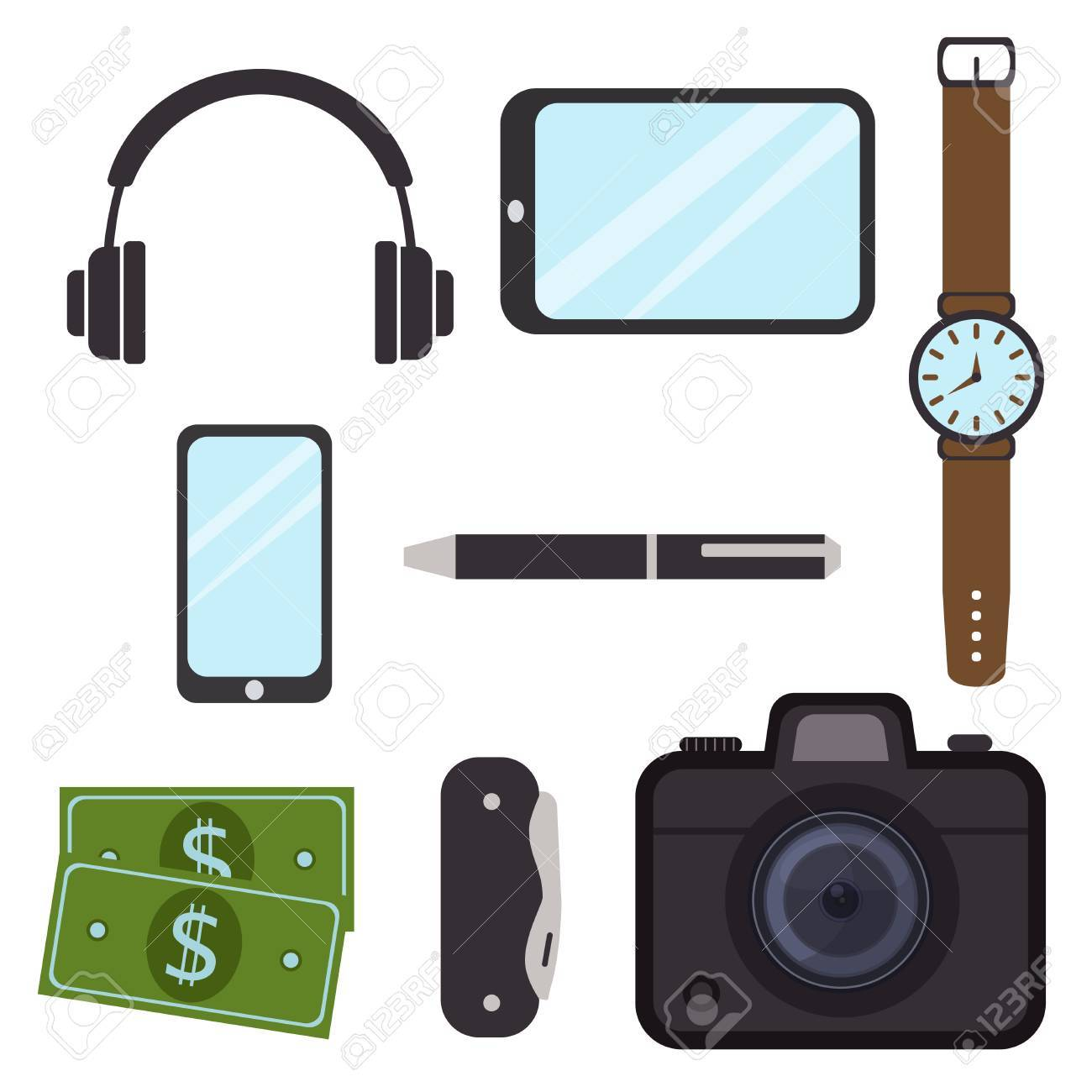 65934767914 Mens casual outfits accessory grunge business watch hipster style vector  illustration Stock Vector - 85030222