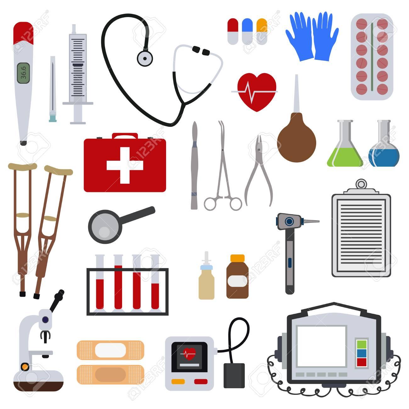 Medicine and health tools medical hospital human service operation