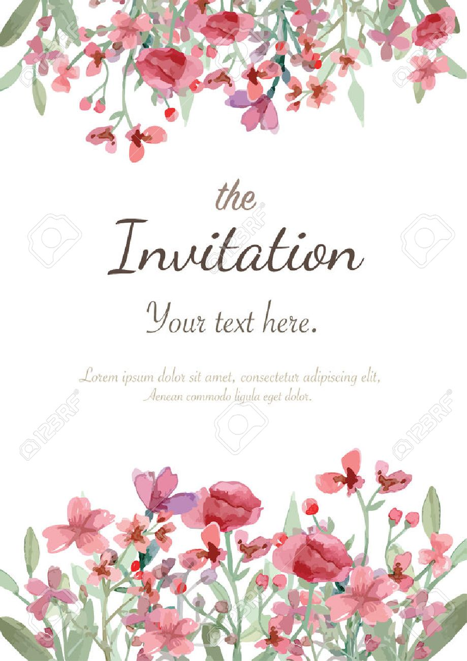 Flower wedding invitation card save the date card greeting flower wedding invitation card save the date card greeting card stock vector 40687543 stopboris Images