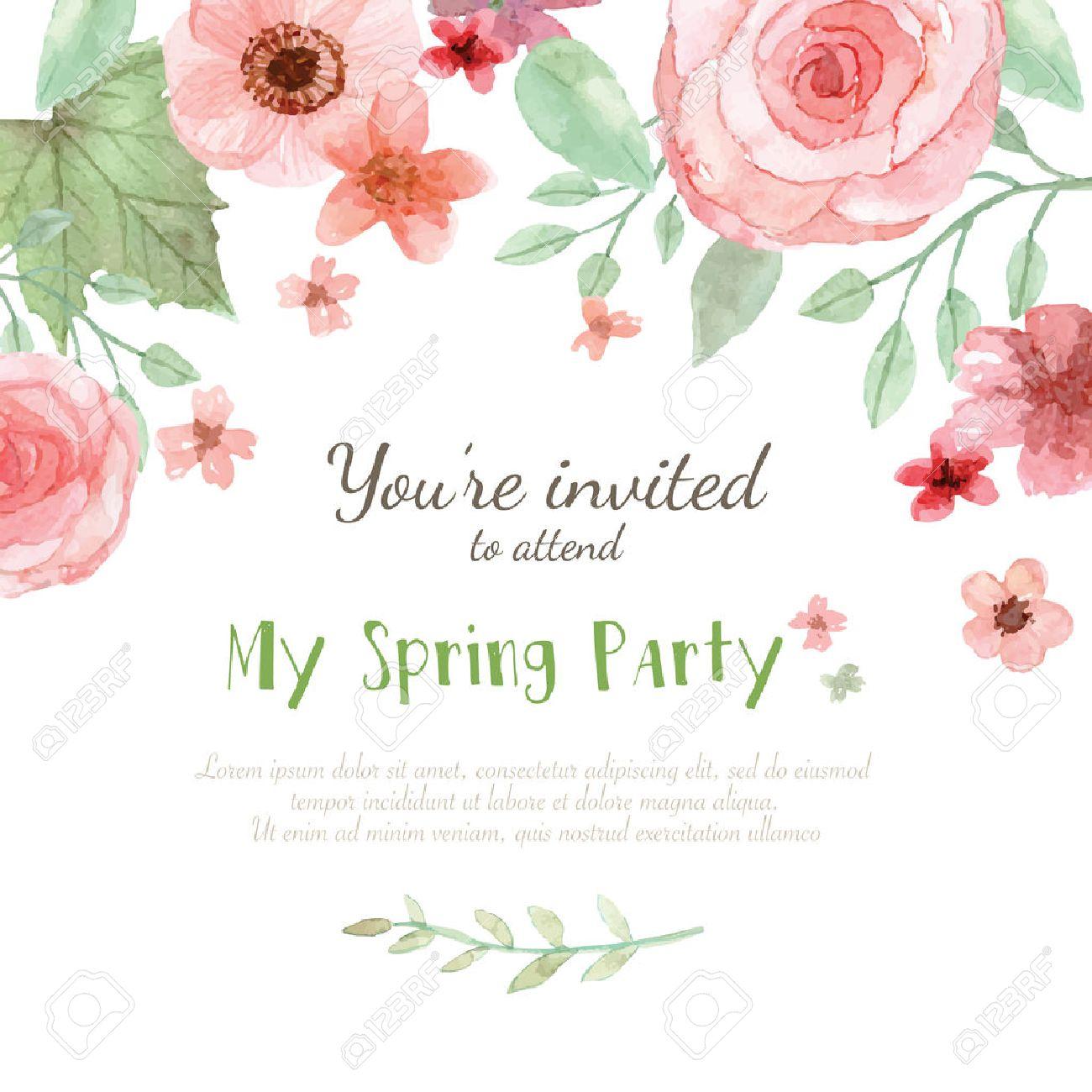 Flower Wedding Invitation Card Save The Date Card Greeting – An Invitation Card