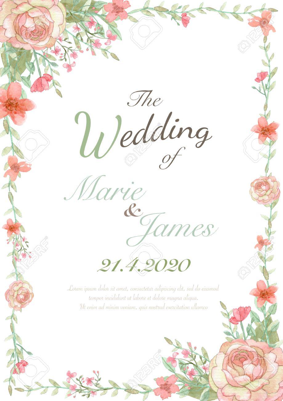 Flower wedding invitation card, save the date card, greeting card, valentine card - 51915984