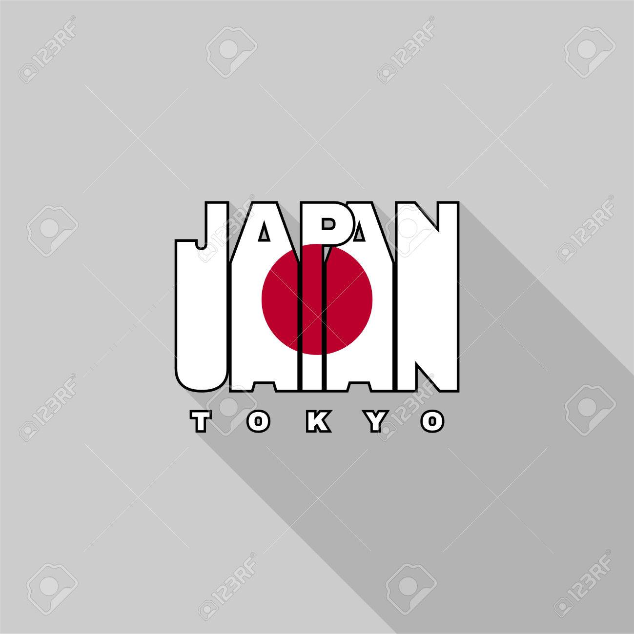 Design shirt japan - Japan Flag Of The Letters Typography T Shirt Graphics Flat Design Stock