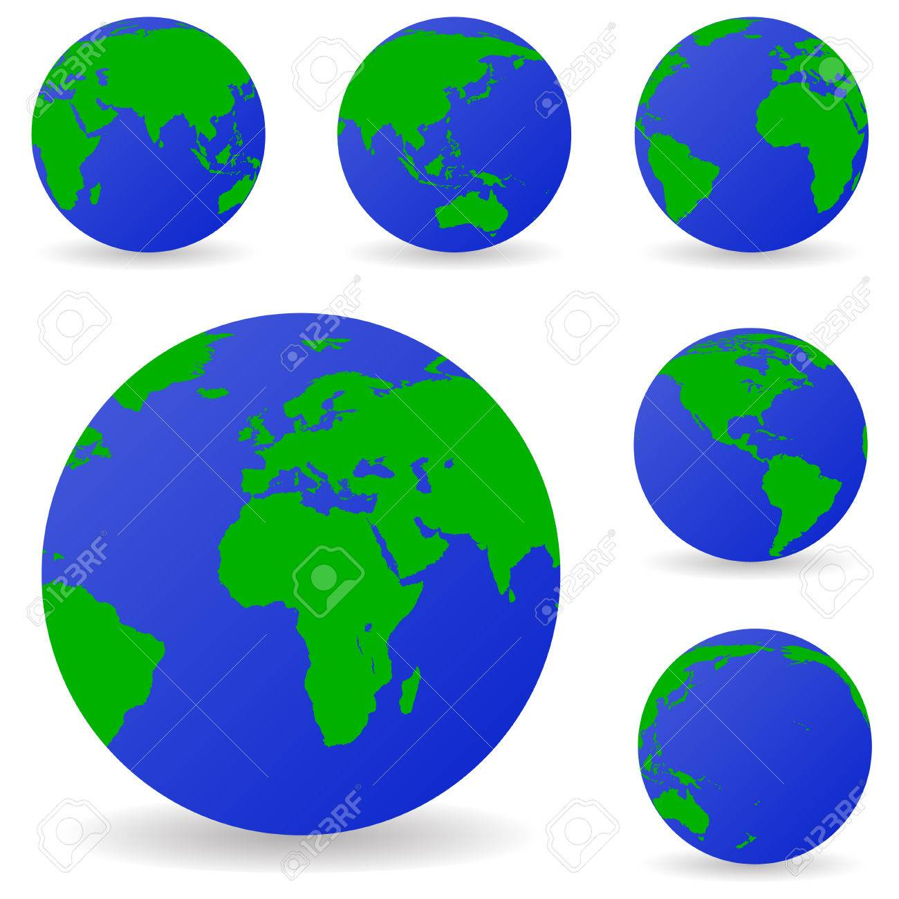 set of vector globe icons showing earth with all continents royalty rh 123rf com vector globe free corel draw globe vector freepik