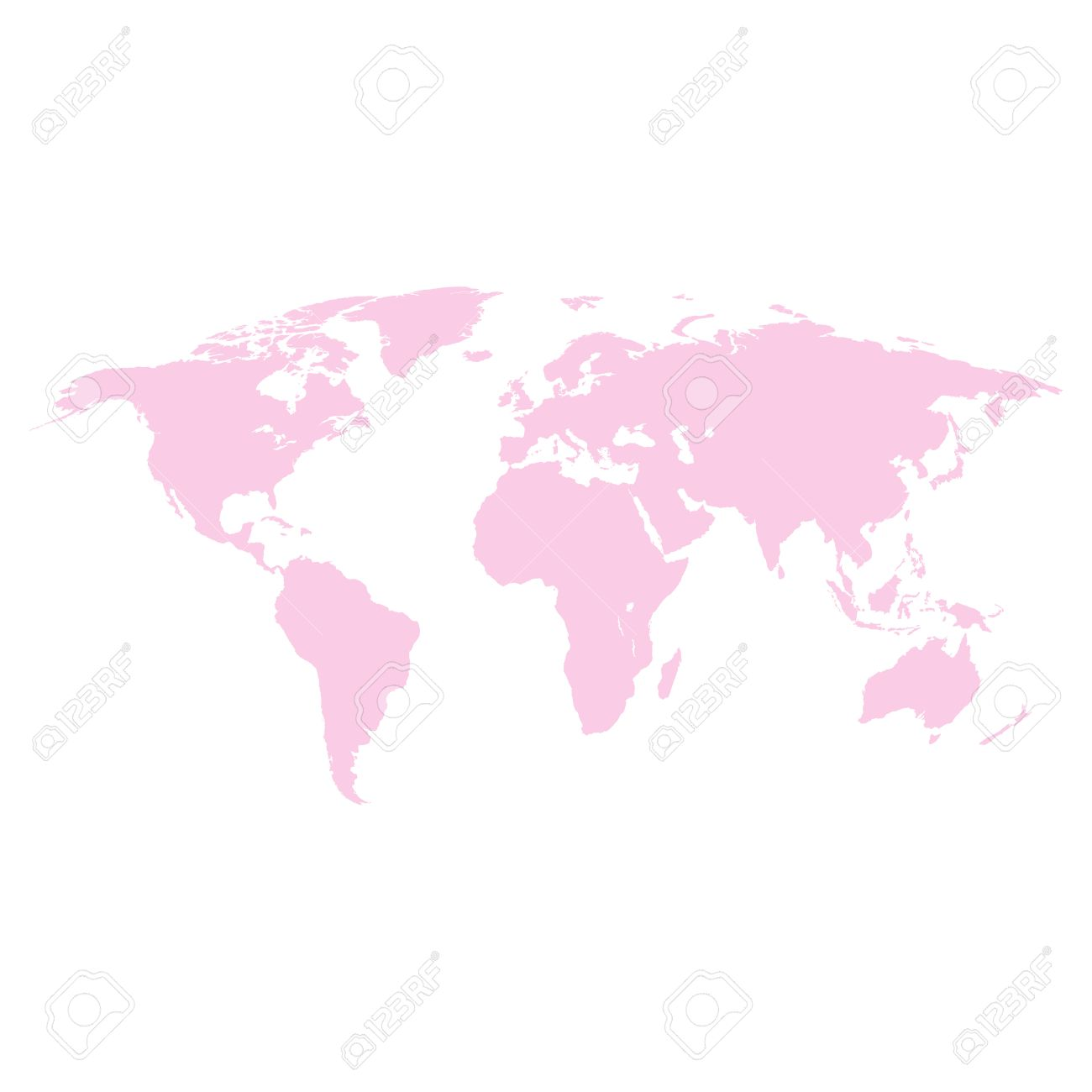 World map pink colored on a white background royalty free cliparts vector world map pink colored on a white background gumiabroncs Image collections