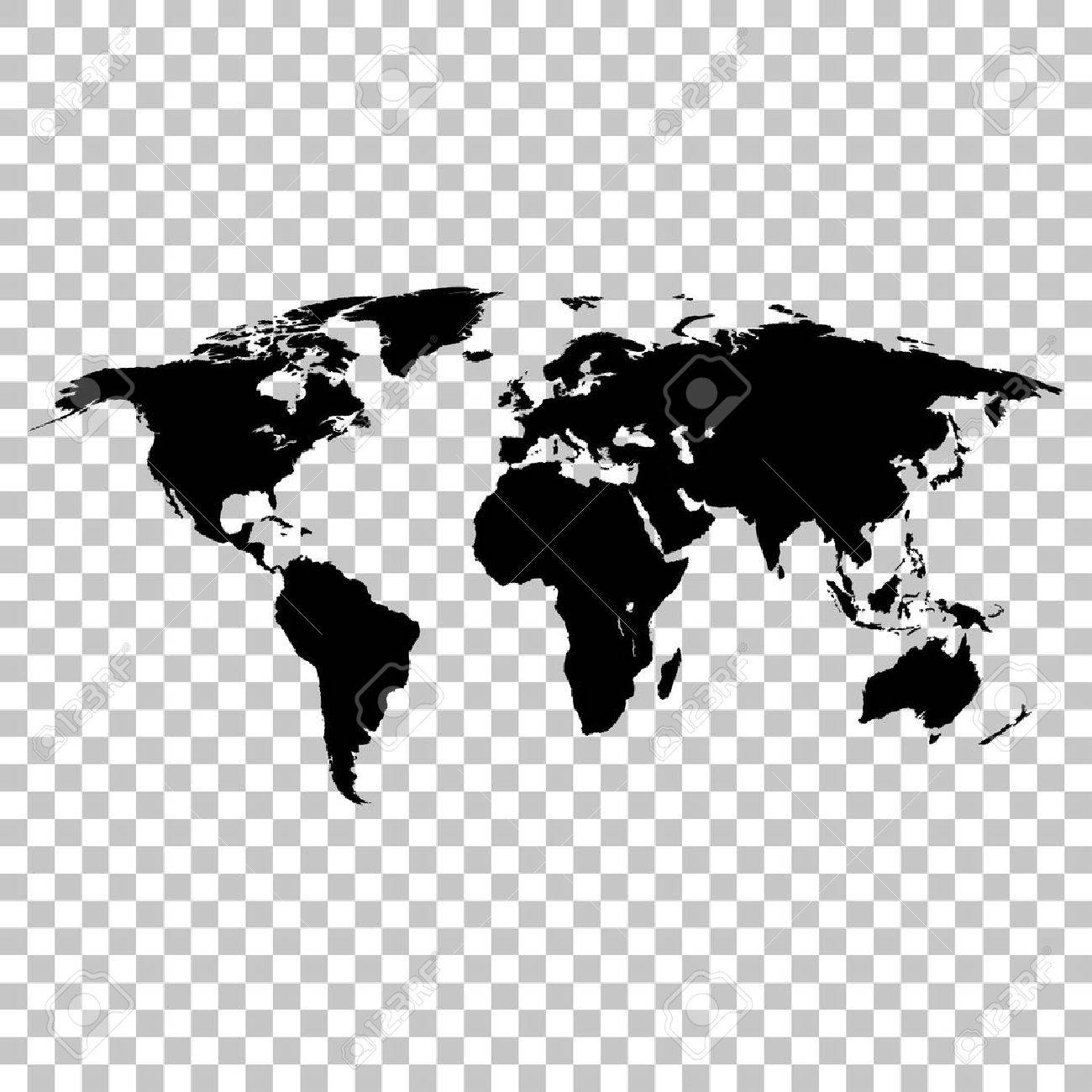 World map black colored silhouette earth stylish royalty free vector world map black colored silhouette earth stylish gumiabroncs Image collections