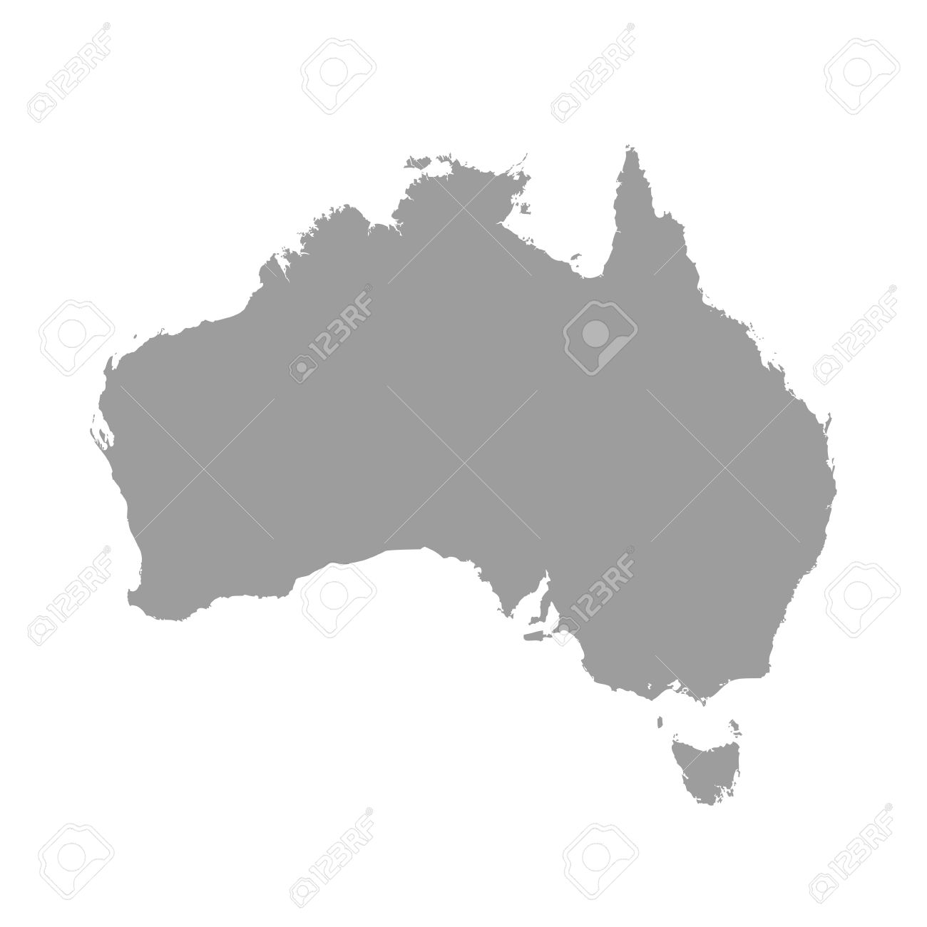 Australia map grey colored on a white background royalty free australia map grey colored on a white background stock vector 49549406 gumiabroncs Choice Image