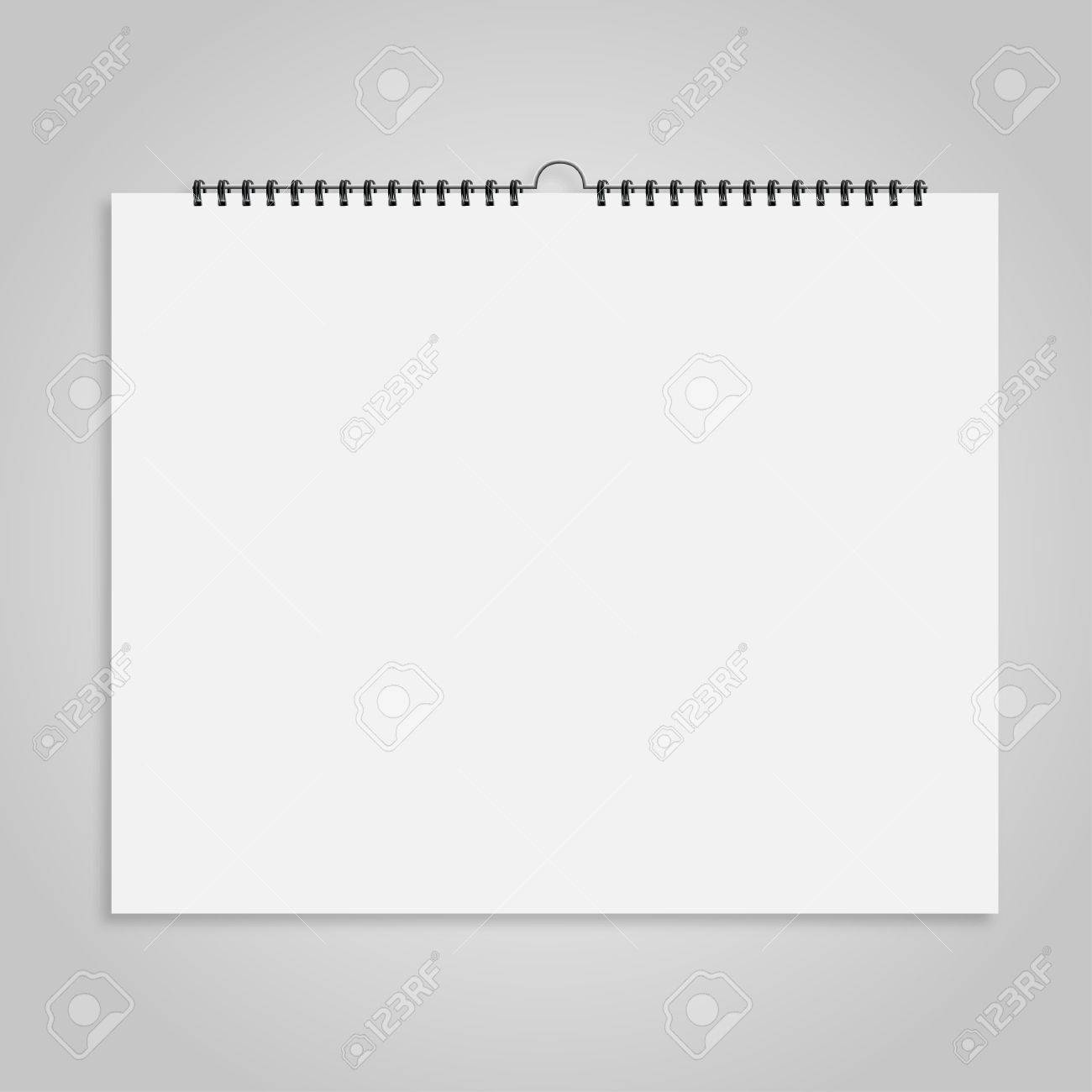 Calendar sheet of paper on a gray background - 50134322