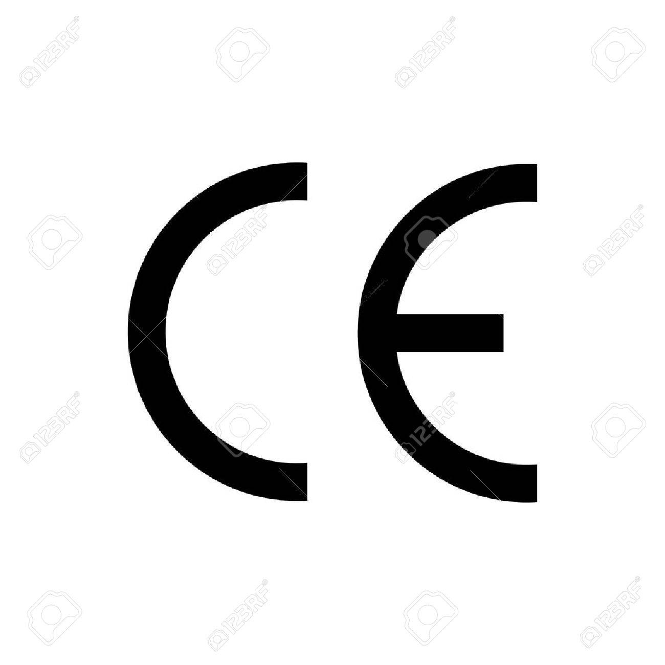 ce mark symbol black colored on white background royalty free rh 123rf com