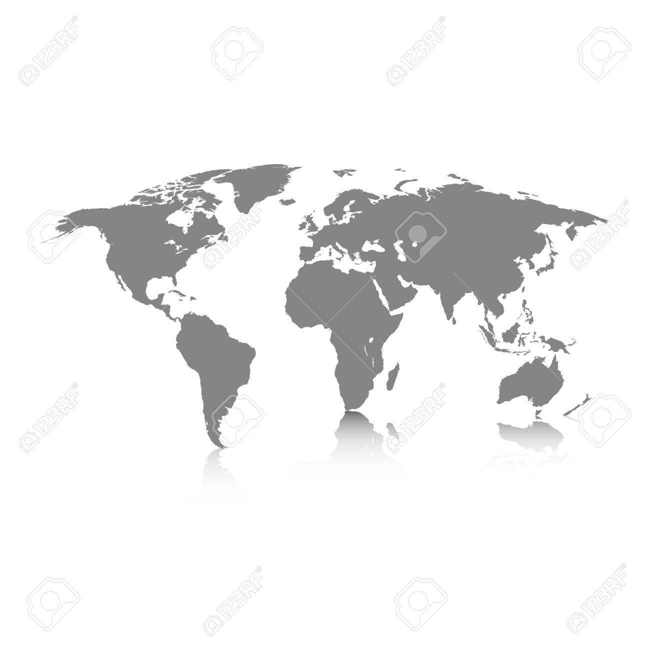 World map grey colored on a white background royalty free cliparts vector world map grey colored on a white background gumiabroncs Gallery