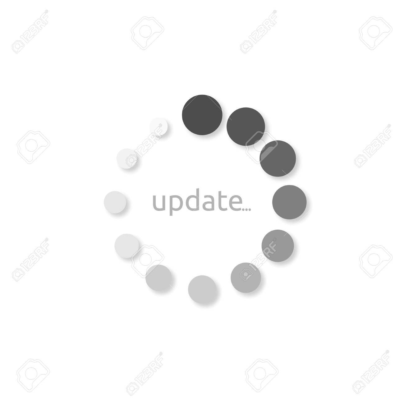Icon install update, style design on white background - 88944118