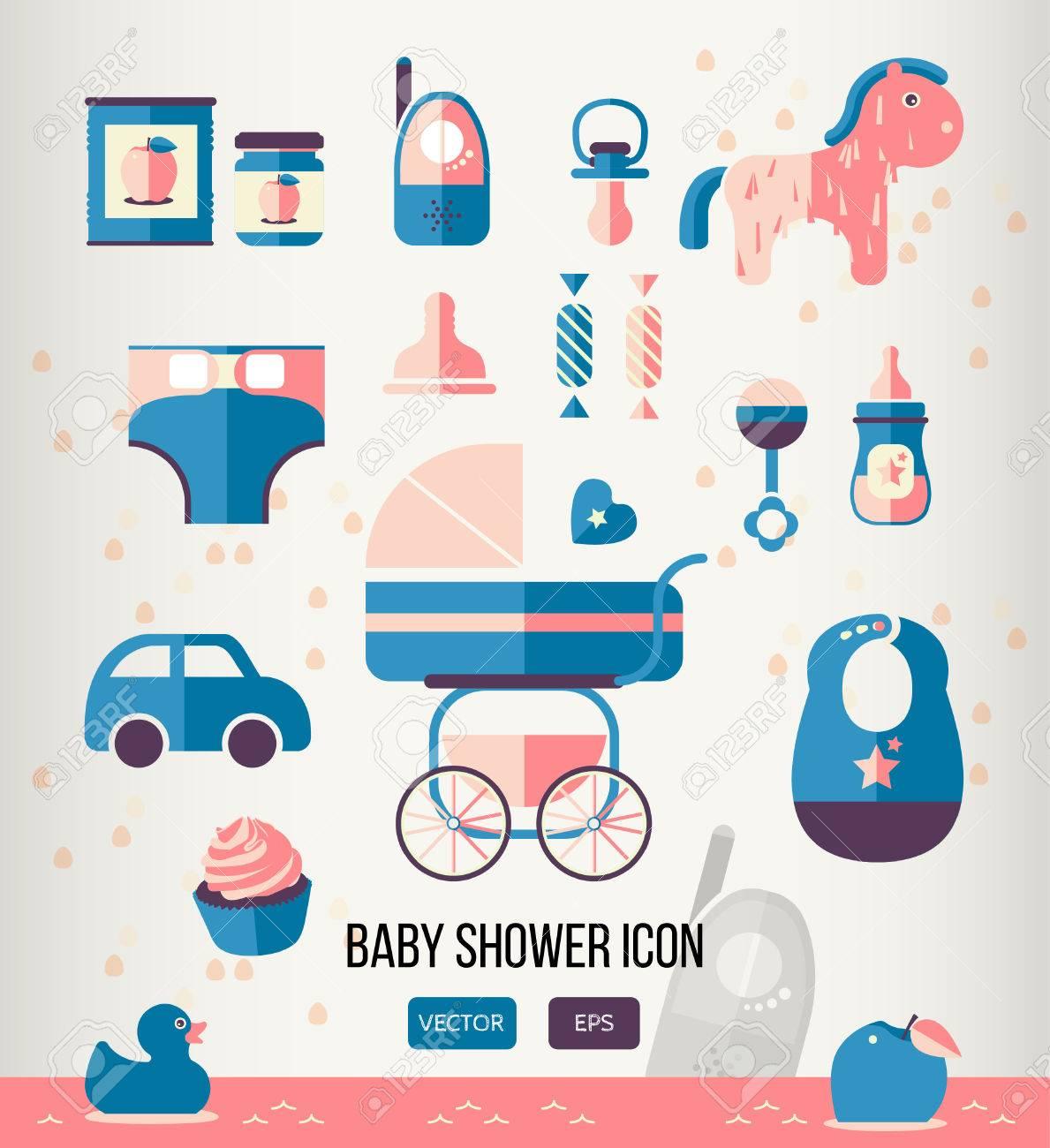 Ilustración Del Vector Del Icono De Bienvenida Al Bebé Para La ...