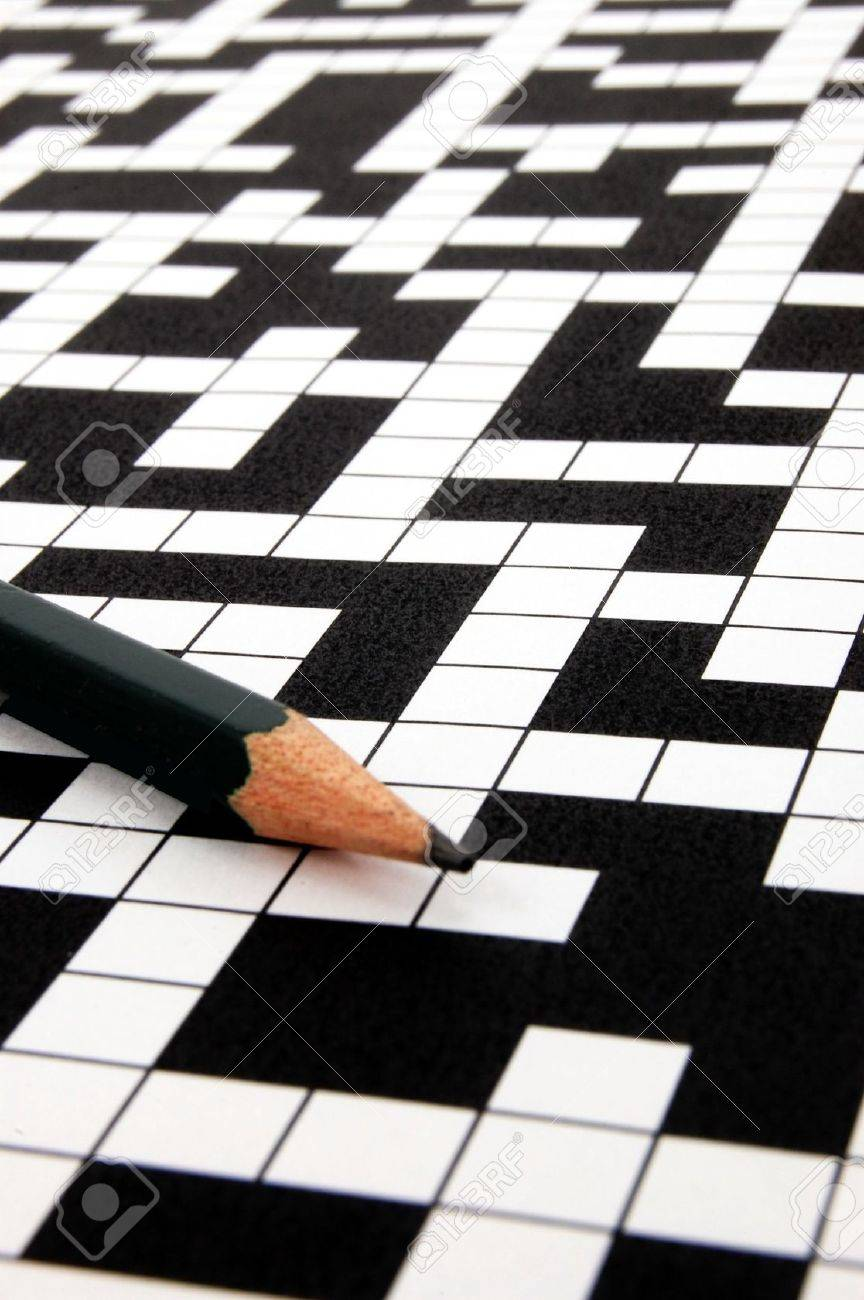 a shot of a crossword puzzle and pen Stock Photo - 5033401