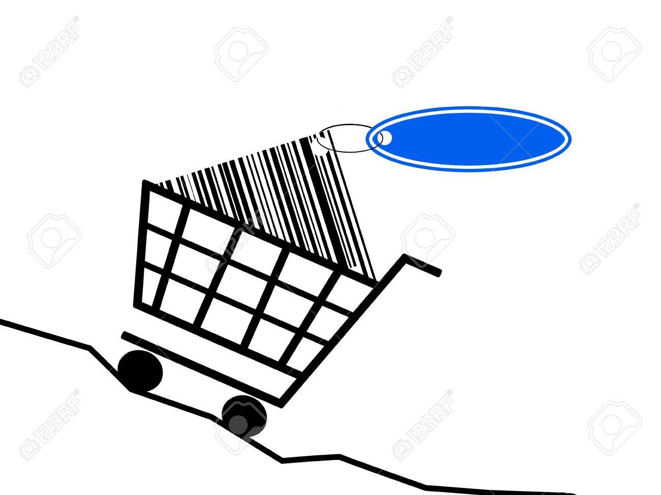 a shopping basket scale the rising prices. Stock Photo - 6055881