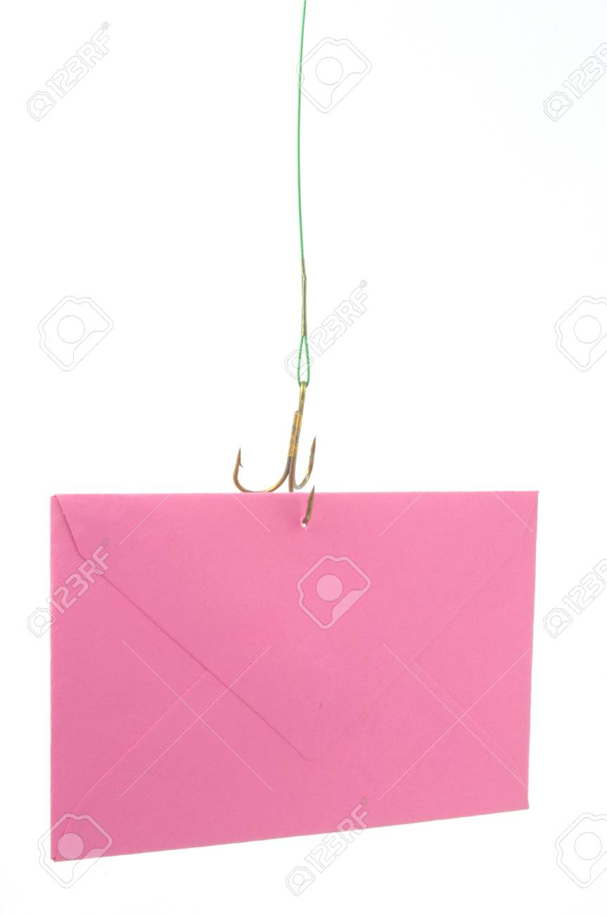 a rosa letter is catching with a fishing cook Stock Photo - 13952413