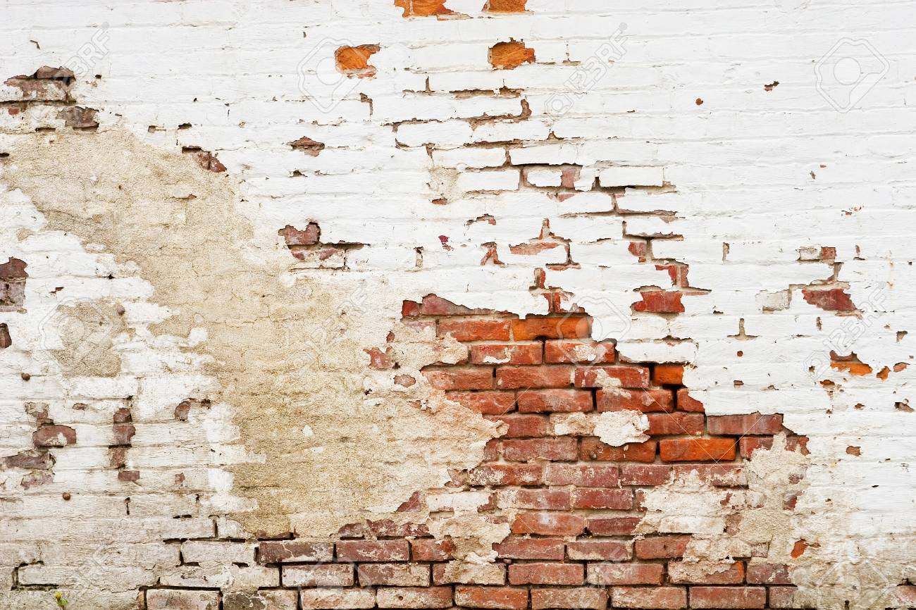 A Side Of An Old Brick Building Stock Photo