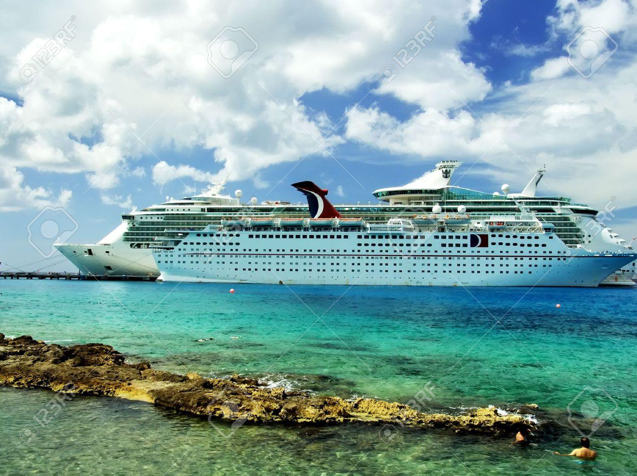 Luxury Vacation: Cruise Ships. Caribbean Sea, Cozumel, Mexico - 2743746