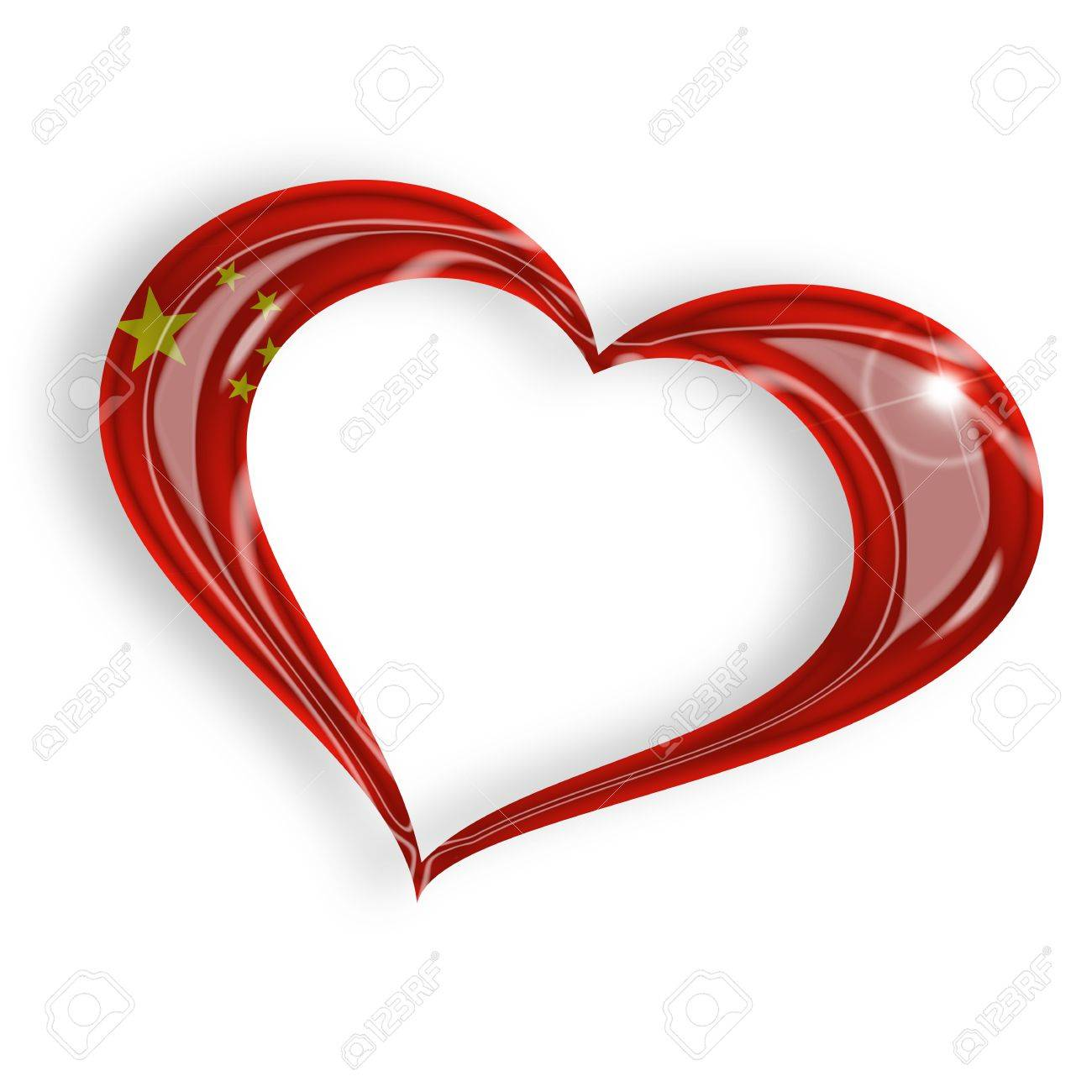 Heart with chinese flag on white background stock photo picture heart with chinese flag on white background stock photo 17695282 buycottarizona