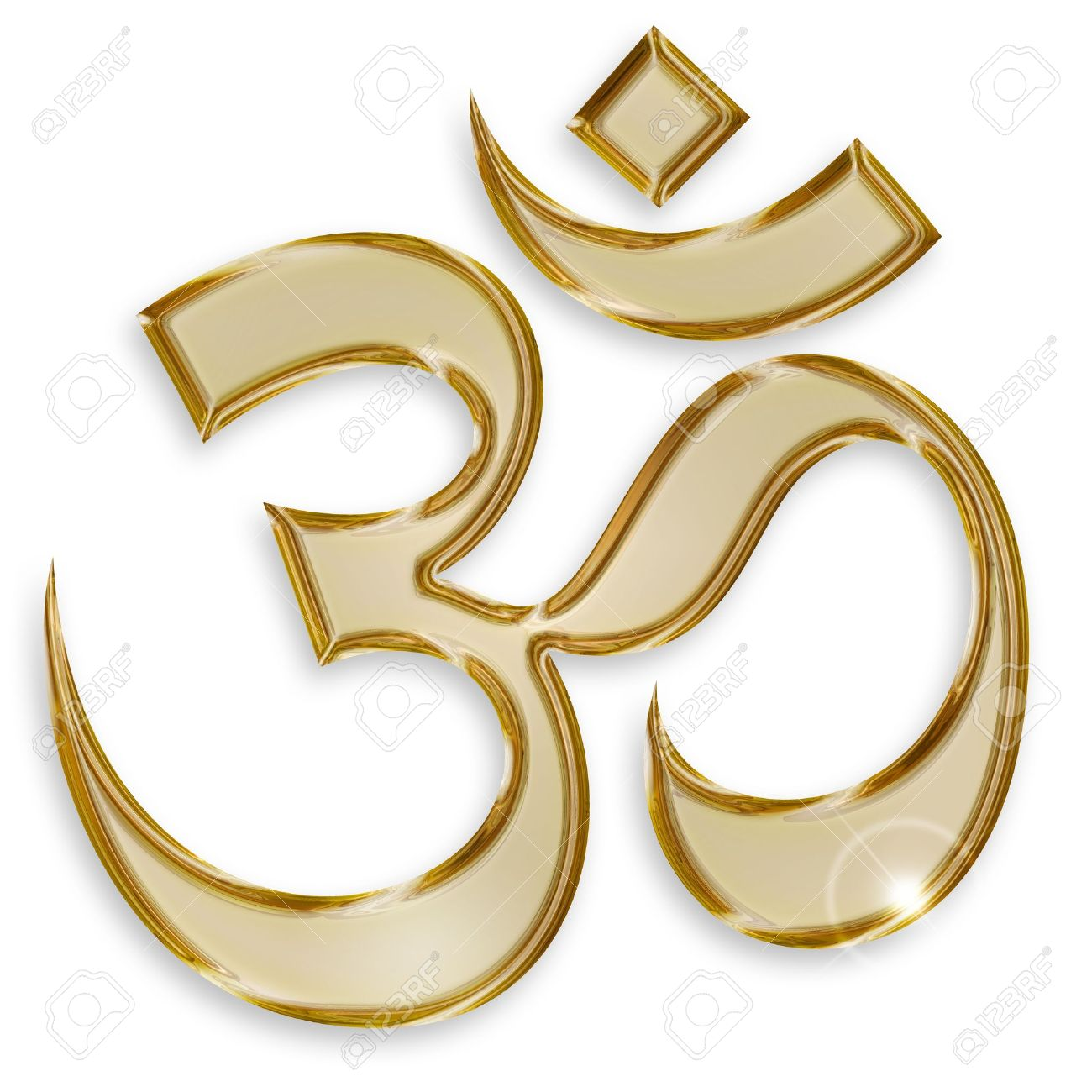 Hindu Om Symbol Isolated On White Background Stock Photo Picture