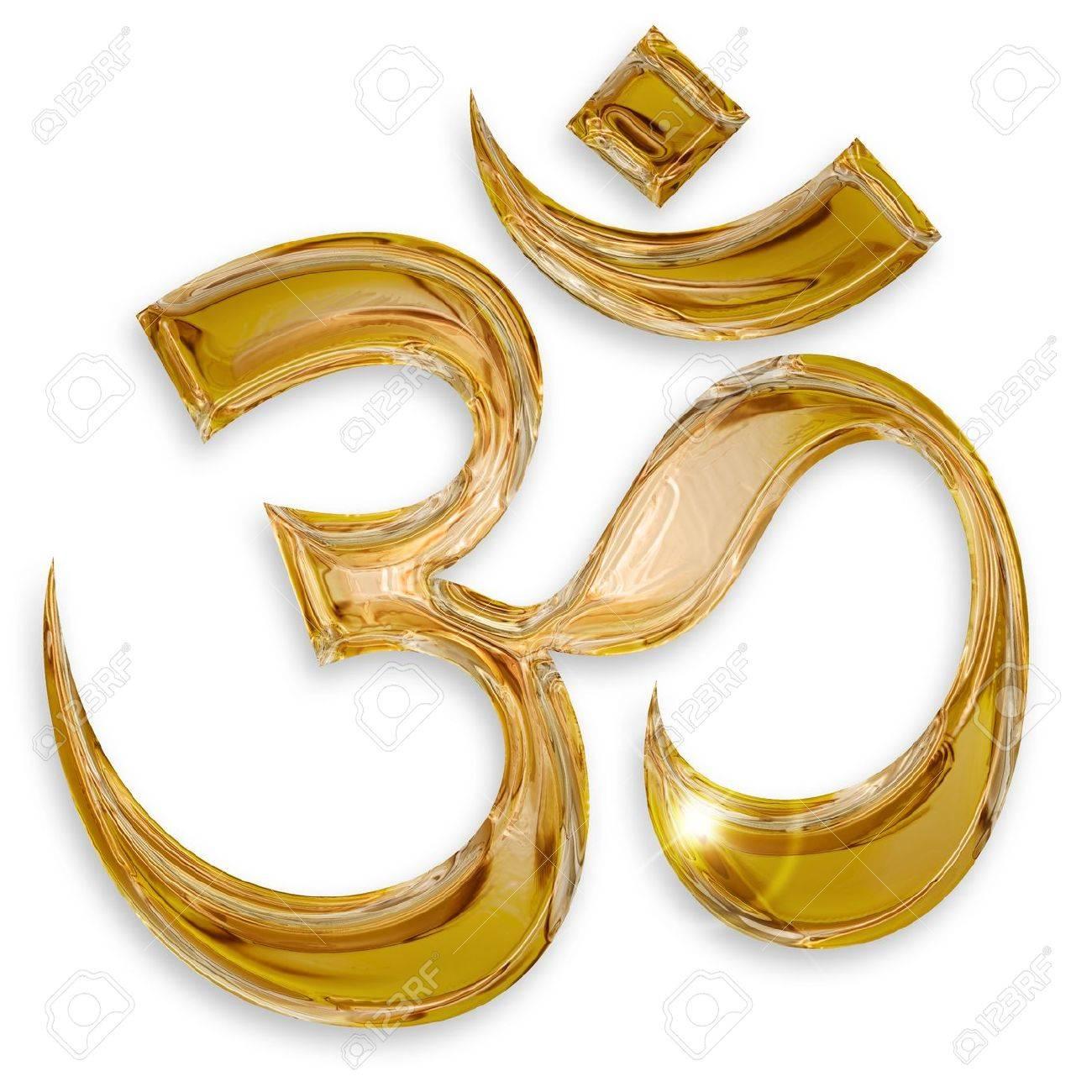 hindu om icon isolated on white background Stock Photo - 17695331