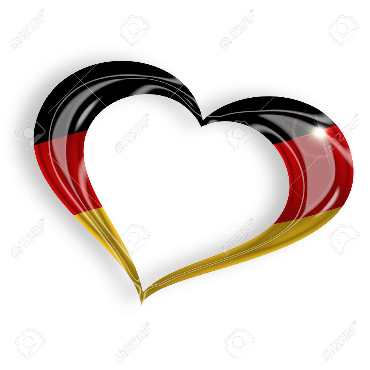 Charmant Herz Flagge Malseite Bilder - Malvorlagen Von Tieren ...
