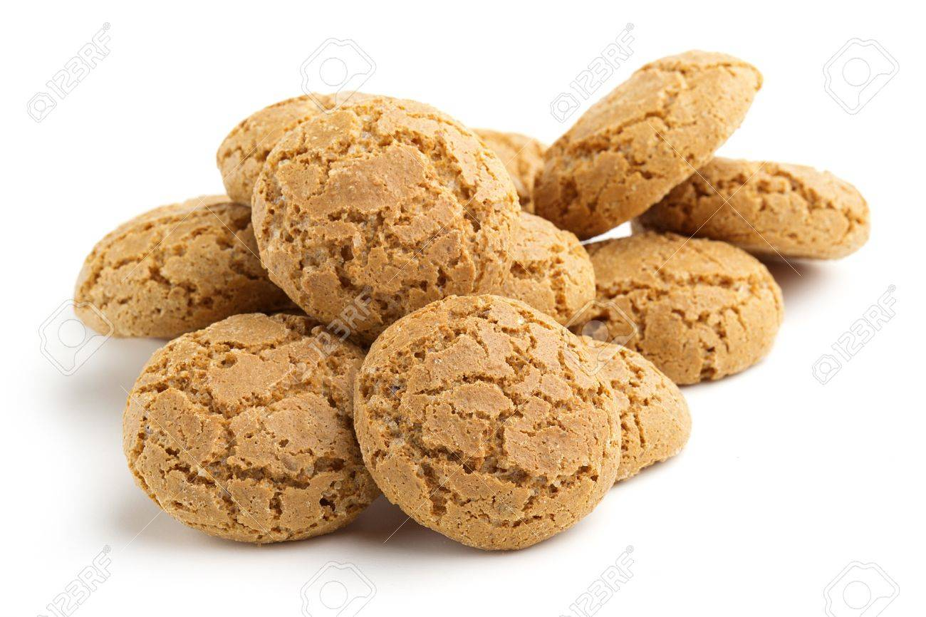 heap of biscuits isolated on white background Stock Photo - 18989502