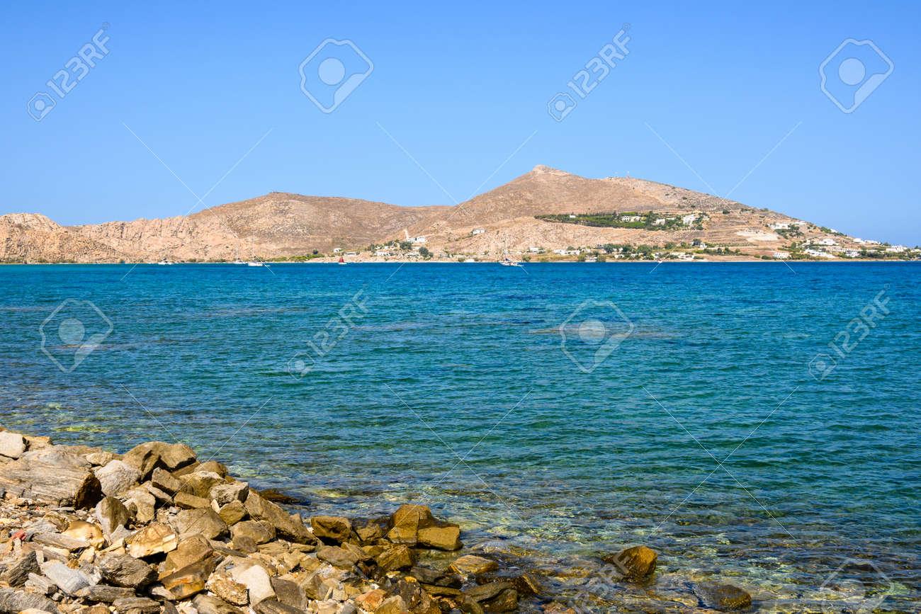 Beautiful bay with blue crystal waters. Paros island, Greece - 169388179