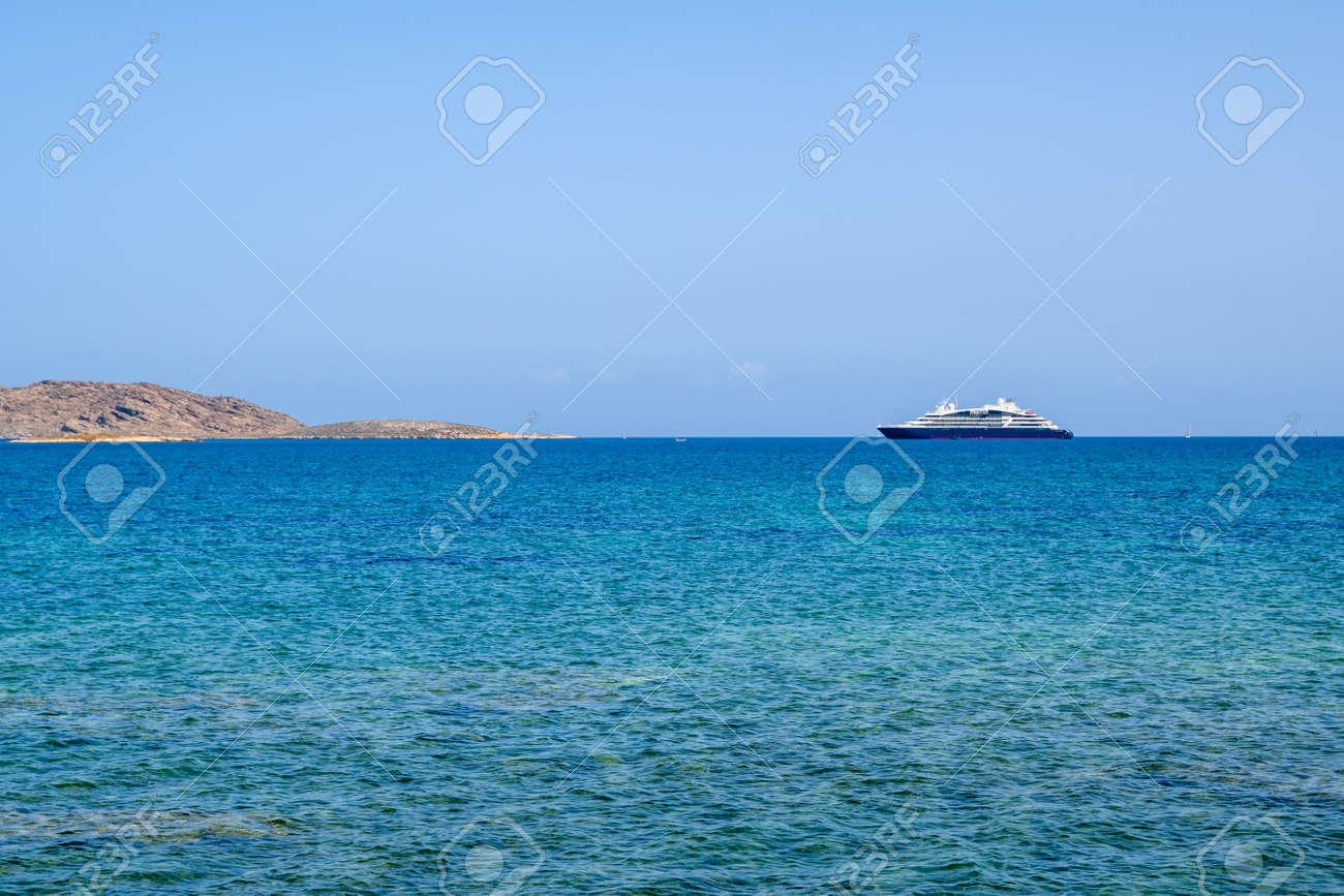 Beautiful bay with blue crystal waters. Paros island, Greece - 169388182