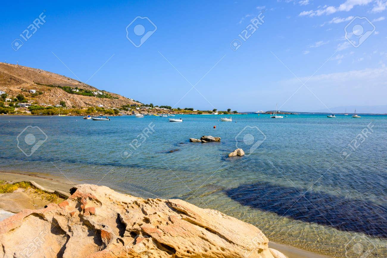 Beautiful bay with blue crystal waters. Paros island, Greece - 169388184