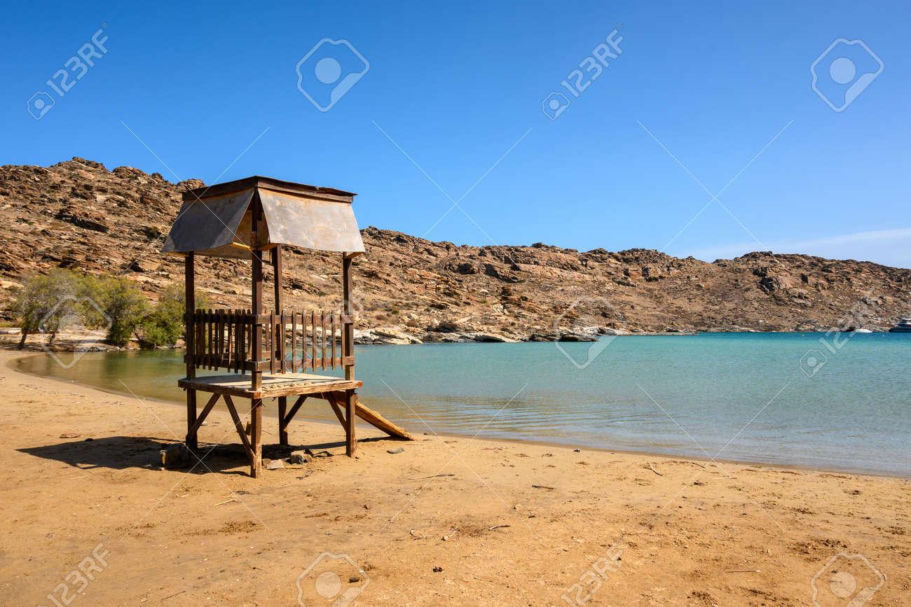 Monastiri beach, beautiful and sandy beach located in a rocky bay. Paros island, Cyclades, Greece - 169664137