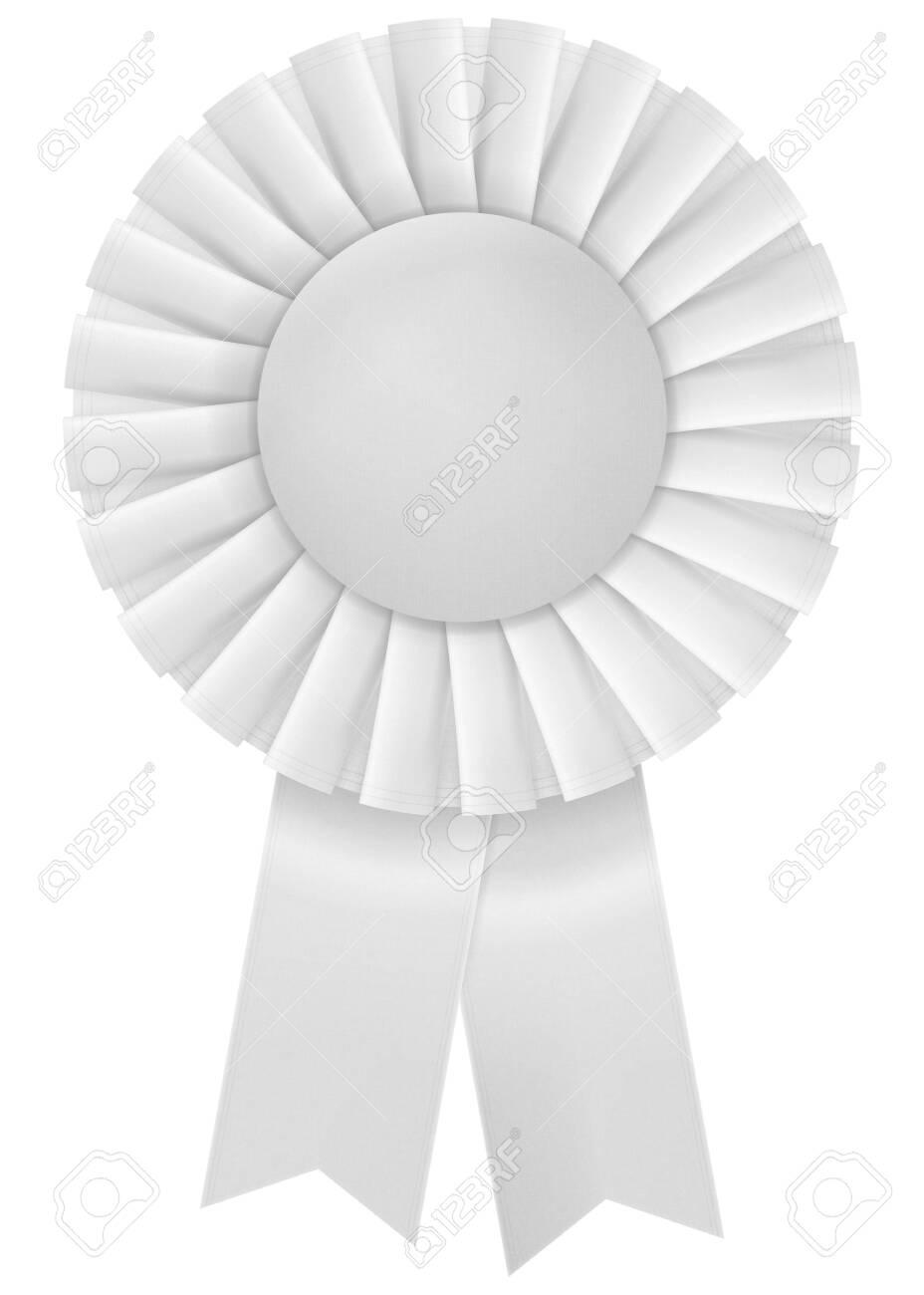 A white third place prize ribbon on white - 150735478