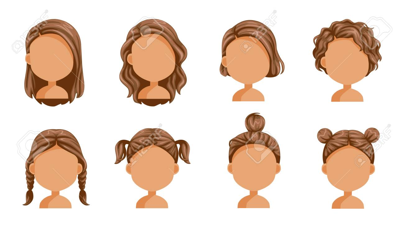 Little Girl Hair Set Face Of A Little Girl Beautiful Hairstyle