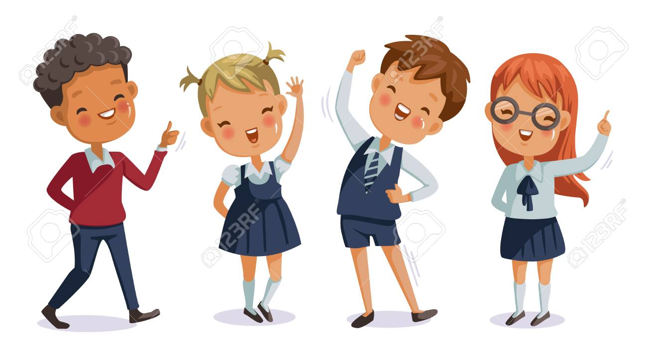 Back to school. boy and girl, children uniform.cute character. Happy smile. - 105746777