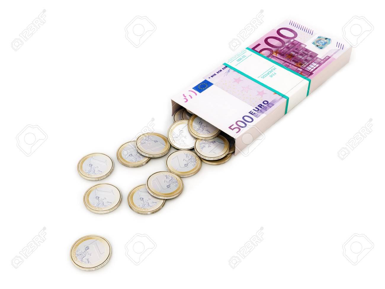 euro money box on white isolated background Stock Photo - 12826337