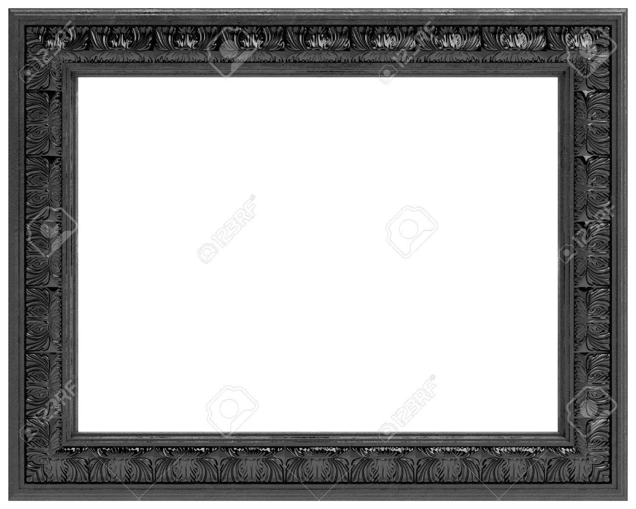 Schwarz Geschnitzten Rahmen Für Einen Spiegel Auf Weißem Hintergrund ...