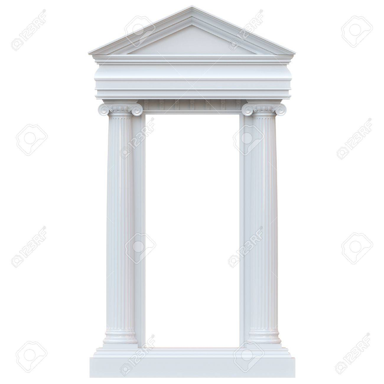 Marble Columns Isolated on white background glossy version - 16572965