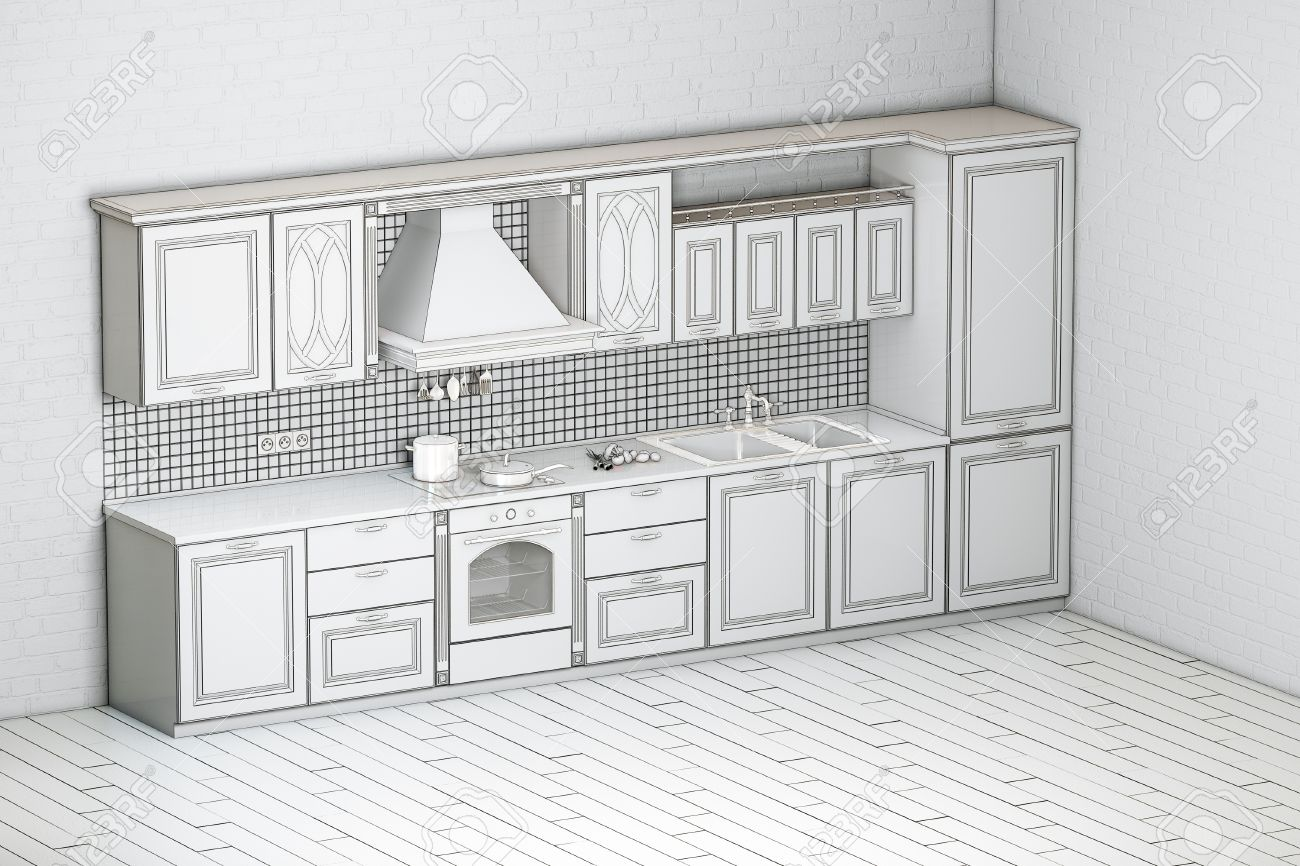 Rough Draft Of Classic Kitchen Cabinet Second Version