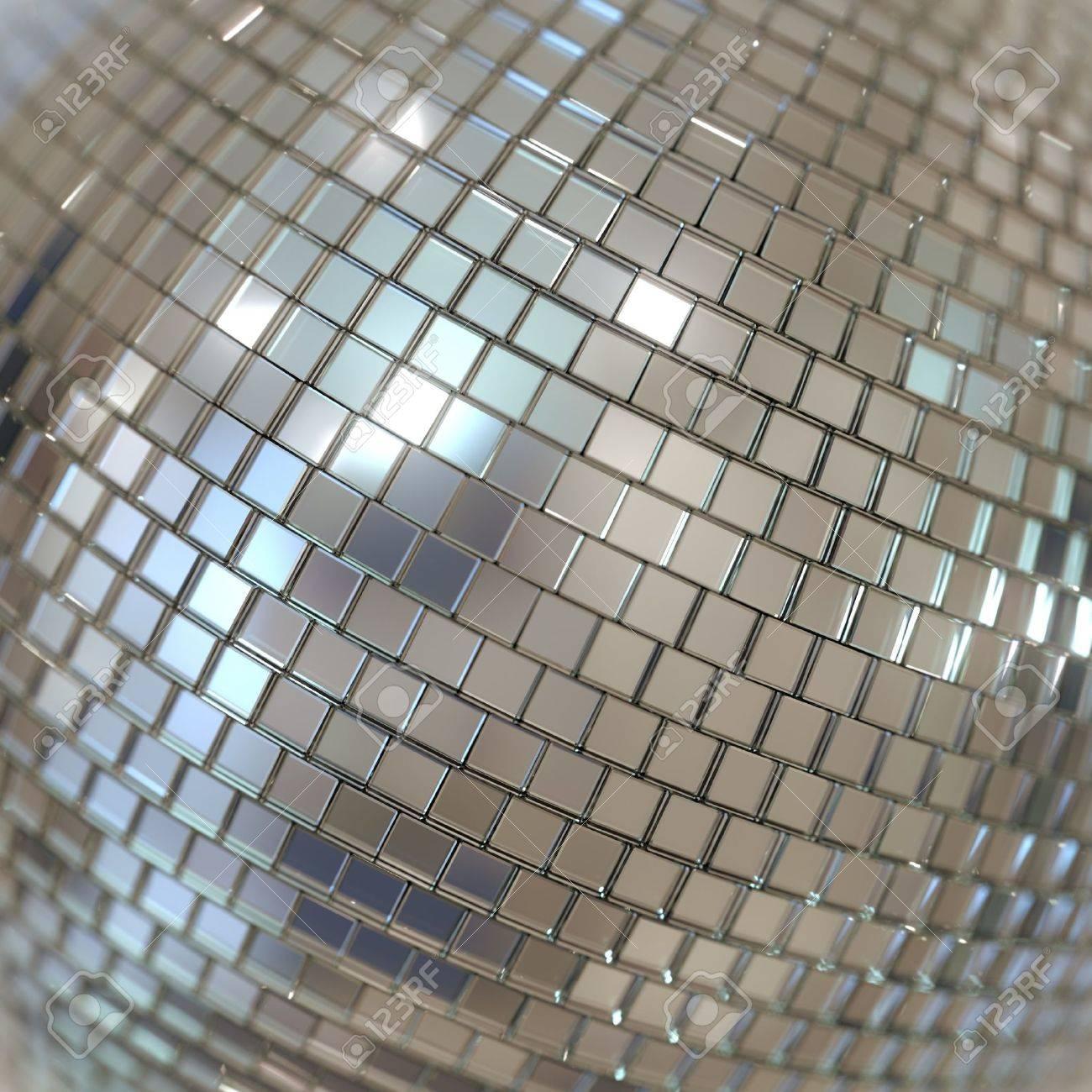Silver Shining Disco Ball Background - 20522667