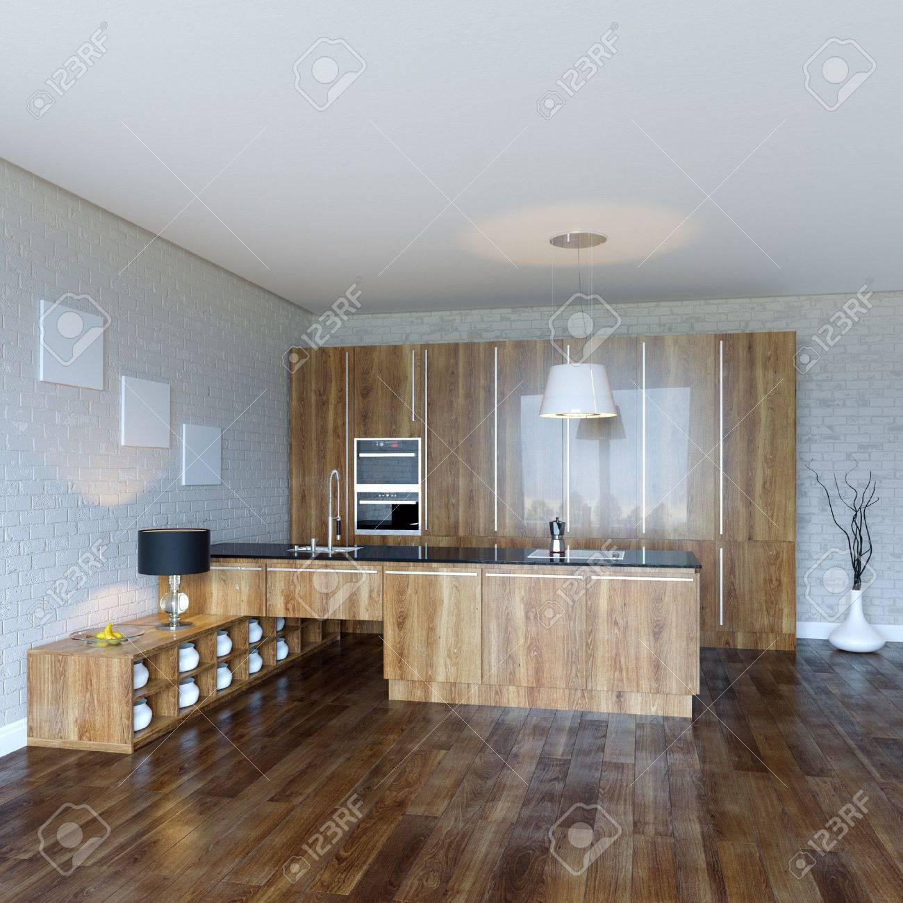 Luury Wooden Kitchen Cabinet - 21923223