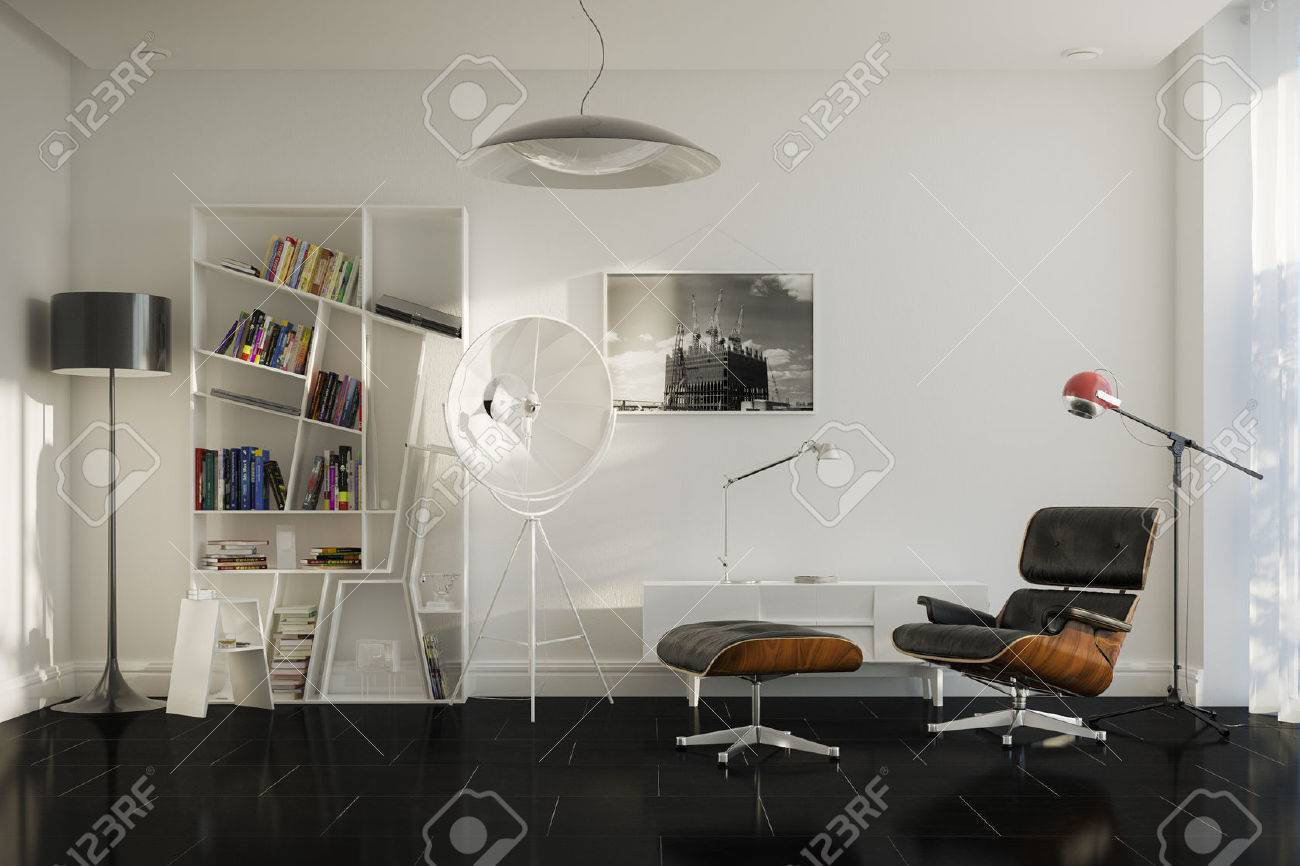 Home details of rest With Lounge Chair And Stylish Lamps - 23041828