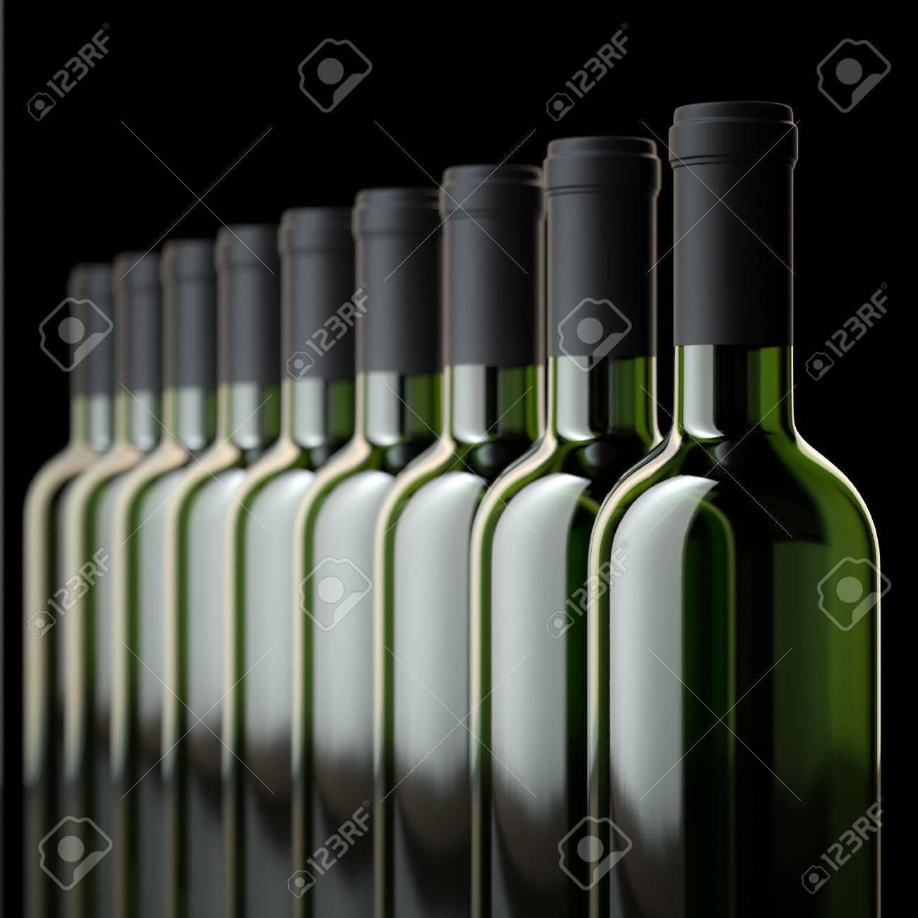 Red Wine Bottles In Wine Cellar Or In Liquor Store - 25202969
