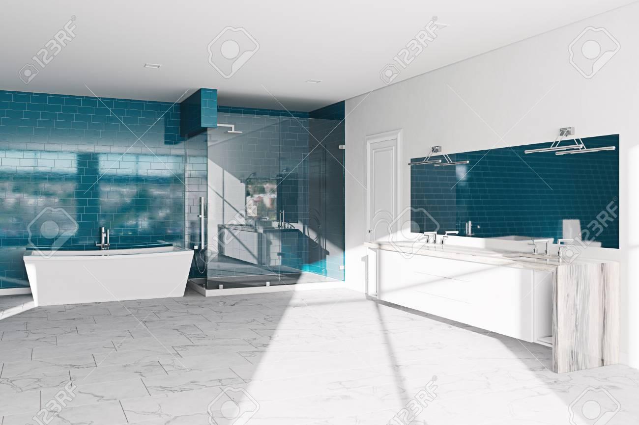 Spa, hotel bathroom concept. Modern architecture interior design,..