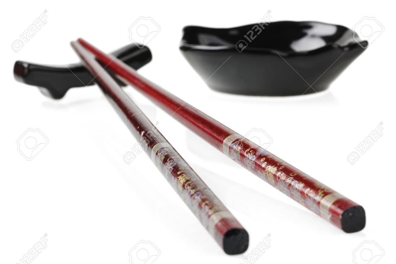 beautiful chopsticks, isolated on white backgrounds Stock Photo - 14061357