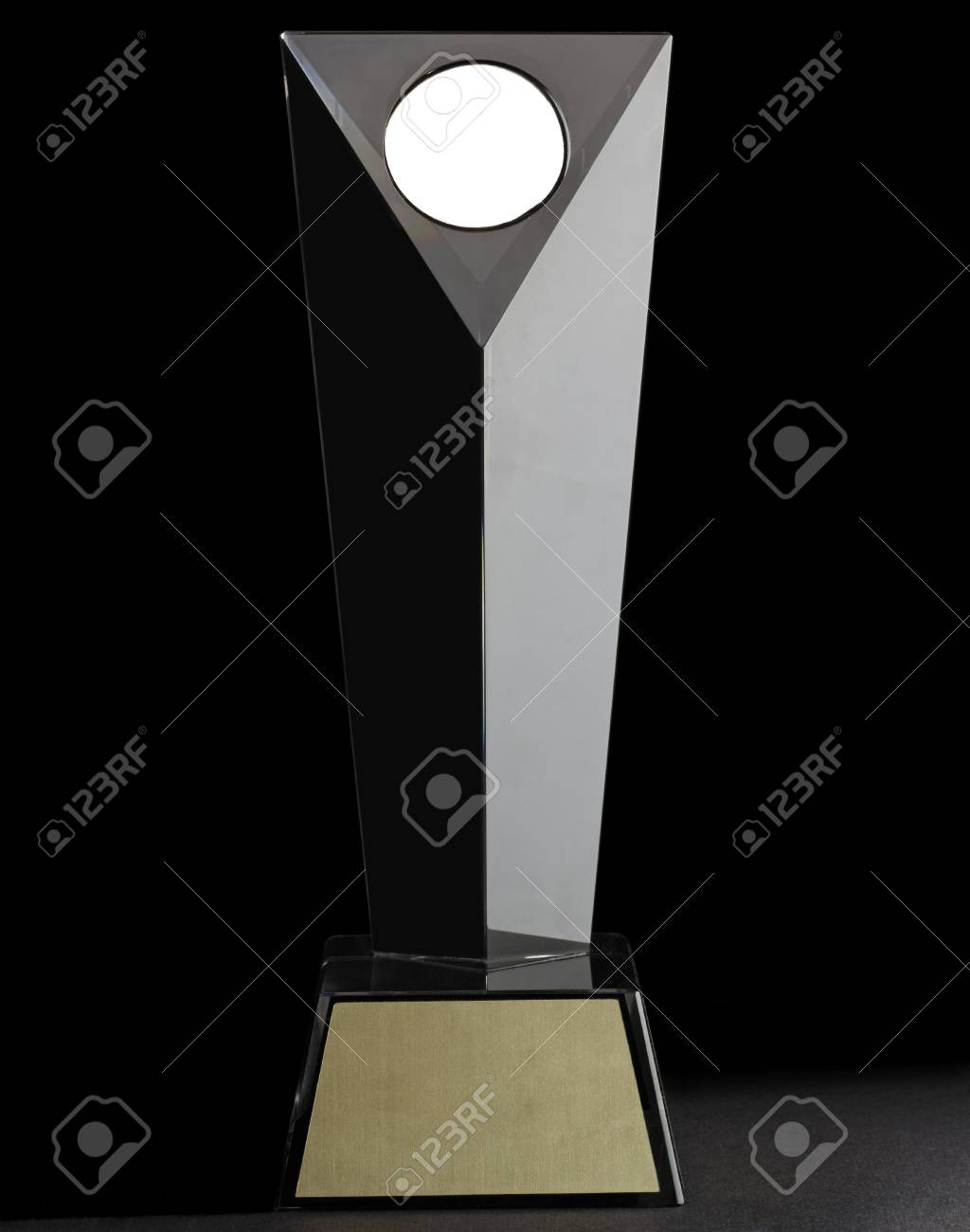 Luxury modern glass prize. isolated on black background Stock Photo - 17695136
